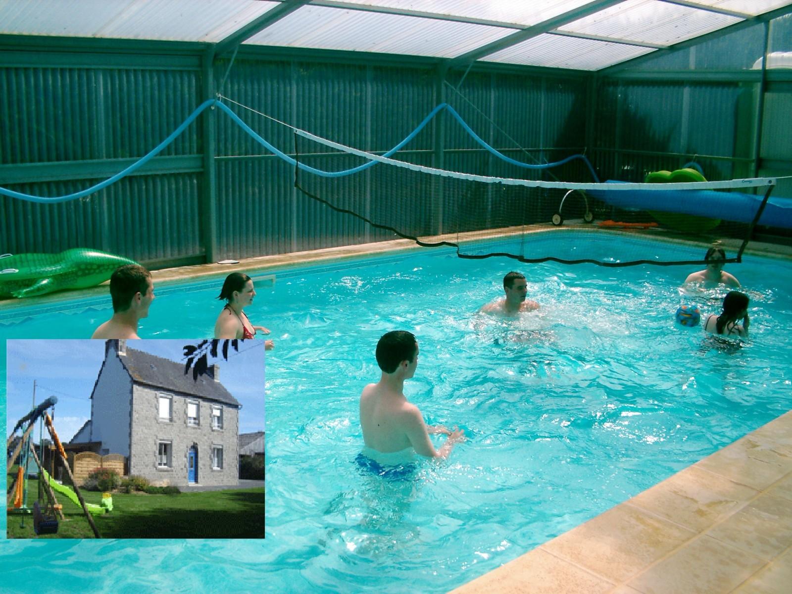 Maison vacances avec piscine locarn location 4 personnes for Gite bretagne piscine couverte